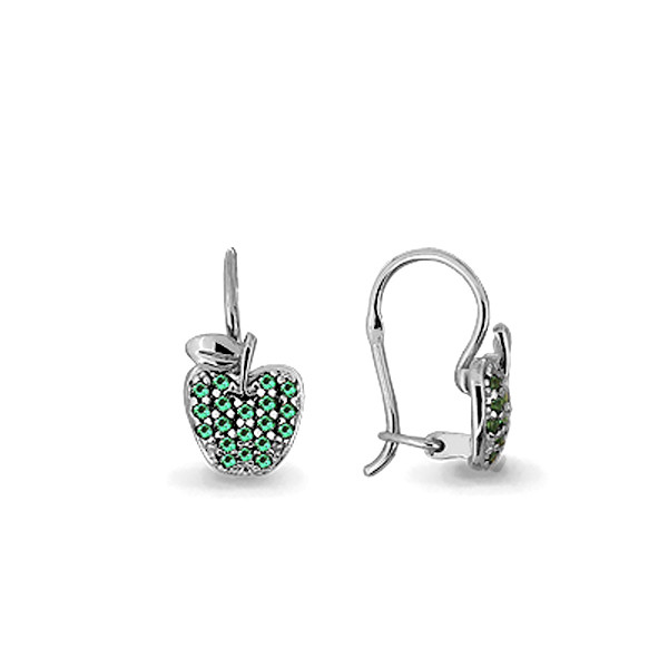 Серебряные Серьги-подвески с наноизумрудом синт. AQUAMARINE (#711583)