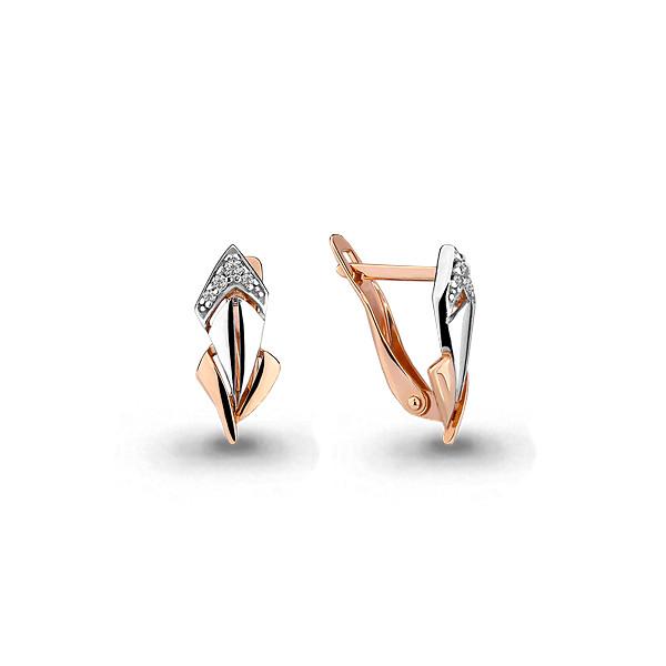 Серебряные серьги-классические с фианитом AQUAMARINE (#642117)