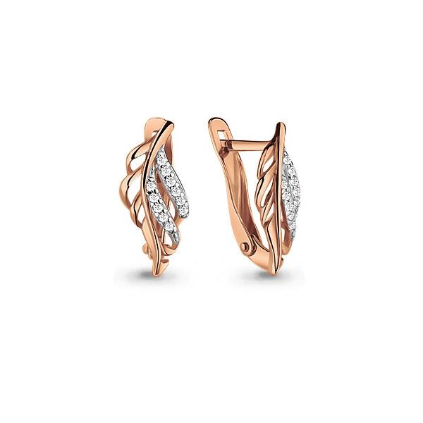 Серебряные серьги-классические с фианитом AQUAMARINE (#712149)