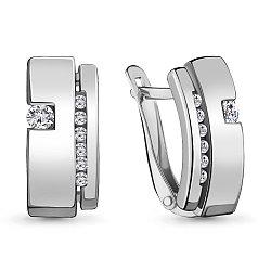 Серебряные серьги-классические AQUAMARINE (#711561)