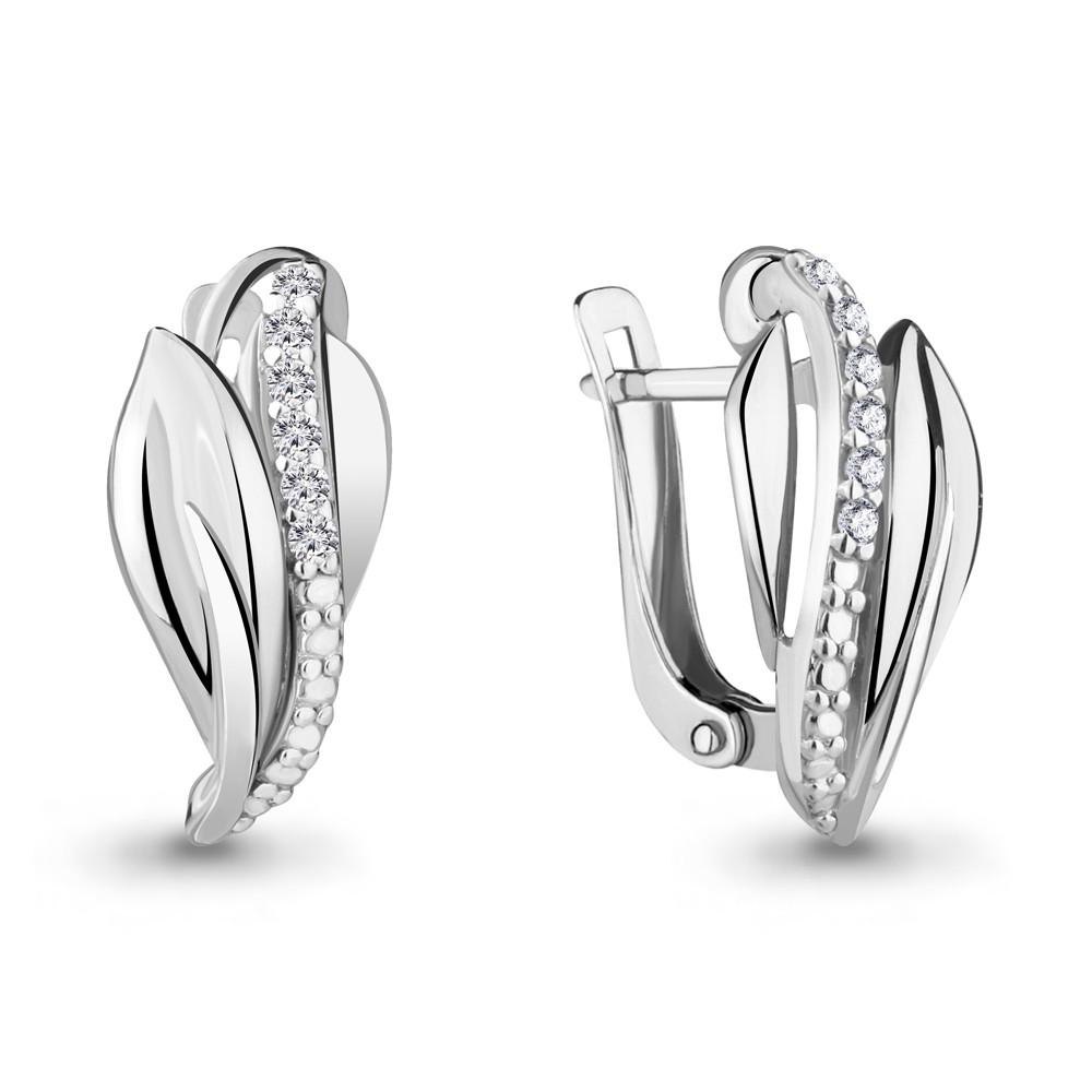 Серебряные серьги-классические AQUAMARINE (#703823)