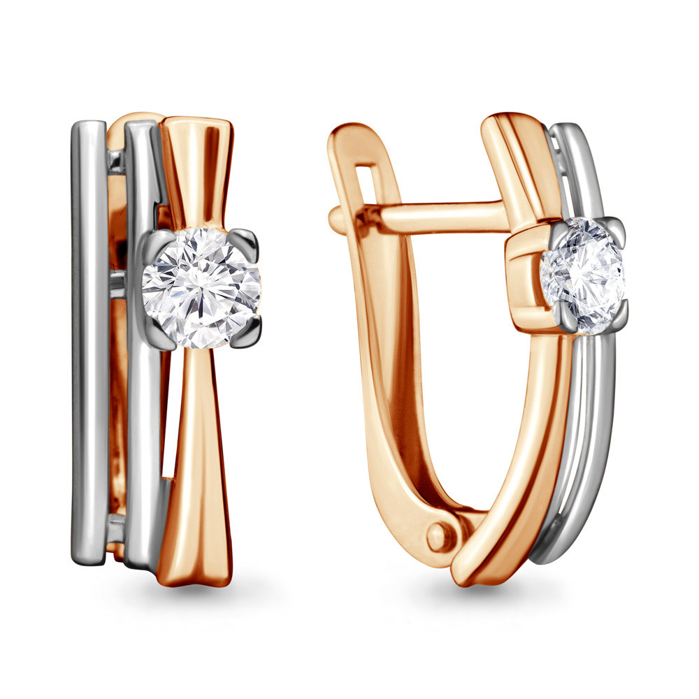 Серебряные серьги-классические с фианитом Swarovski AQUAMARINE (#706509)