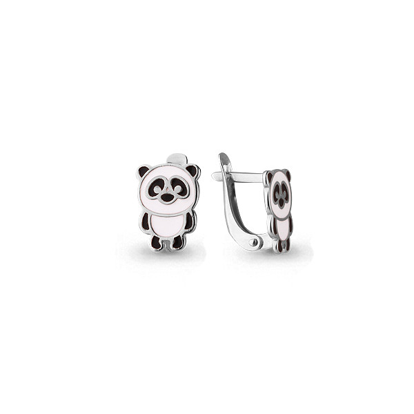 Серебряные серьги-классические с эмалью AQUAMARINE (#405101)