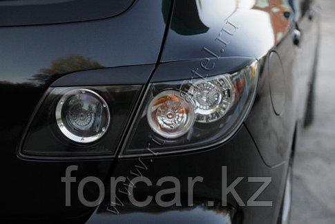 Накладки на задние фонари (Реснички) Mazda 3 хэтчбэк 2003-2008, фото 2