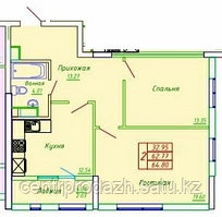 2 комнатная квартира в ЖК София 64.8 м²