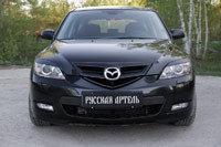 Накладки на передние фары (Реснички) Mazda 3 хэтчбэк 2003-2008, фото 2