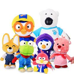 Мягкие игрушки из мультсериала Пингвиненок Пороро