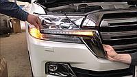LED вставка в фару на TOYOTA LC200 2016+