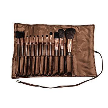 Профессиональный набор кисточек для макияжа в чехле 12 шт.