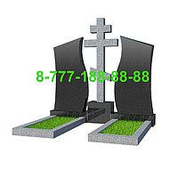 Памятники на могилу двойные ПД 07-10