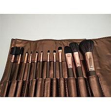 Профессиональный набор кисточек для макияжа в чехле 12 шт., фото 2