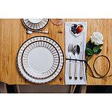 Набор столовый «Барон», 8 предметов: кружка 200 мл, тарелки 26,5/20,5/15,5 см, вилка, 2 ложки, нож, фото 5