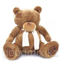 Мягкая игрушка Мишка Тедди с белым шарфом (34 см)