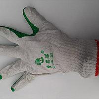 Перчатки облитые зелёные, оранжевые кирпич строительные, фото 1