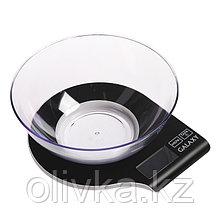 Весы кухонные Galaxy GL 2801, электронные, до 5 кг, чаша 2.2 л, чёрные