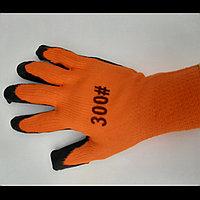 Прозезиненые плотные перчатки оранжевые  300#  оригинал, фото 1