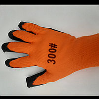 Прозезиненые плотные перчатки оранжевые 300 неоригинал, фото 1