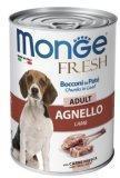 Monge Fresh 400г с Ягненком мясной рулет для взрослых собак Chunks in Loaf with Lamb