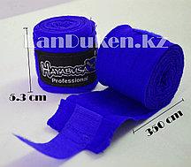 Боксерский бинт HAYABUSA синий 2 штуки 350 см x 5.3 см (Made in Pakistan)