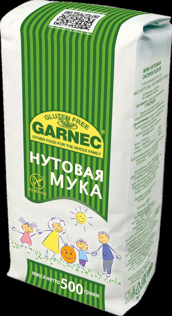 "Мука нутовая ""Гарнец"" без глютена 500 гр"
