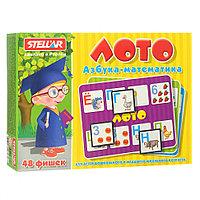 Лото Азбука-Математика 48 фишек Стеллар