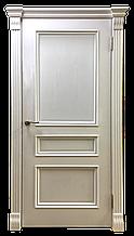 Межкомнатная шпонированная дверь Барселона ясень белая эмаль