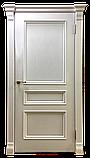 Межкомнатная шпонированная дверь Барселона ясень белая эмаль, фото 2