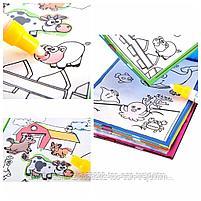 Многоразовая книга-раскраска   с водным маркером., фото 2