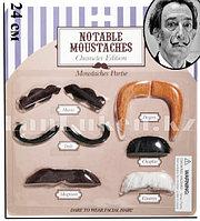 Накладные усы персонажей и личностей карнавальные усы Notable Moustaches (6 образов)