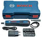 Аккумуляторная отвертка в наборе с битами Bosch GO kit, фото 2