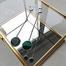 Серебряные серьги с натуральными камнями Brosh Jewellery (Серебро 925) (черный Оникс), фото 3