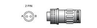 BX0481 Коннектор 2-х штырьковый
