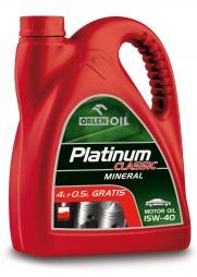 Высококачественное моторное масло PLATINUM CLASSIC MINERAL  15W-40, 4,5l