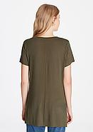 """Женская удлиненная футболка """"V"""" вырезом, фото 2"""