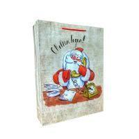 """Non-branded Пакет бумажный подарочный, """"Дед мороз"""", эффект: глянцевая поверхность, размер 33 х 43 х 10 см."""