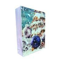 """Non-branded Пакет бумажный подарочный, """"Новогодние шары"""", эффект: глянцевая поверхность, размер 33 х 43 х 10 см."""