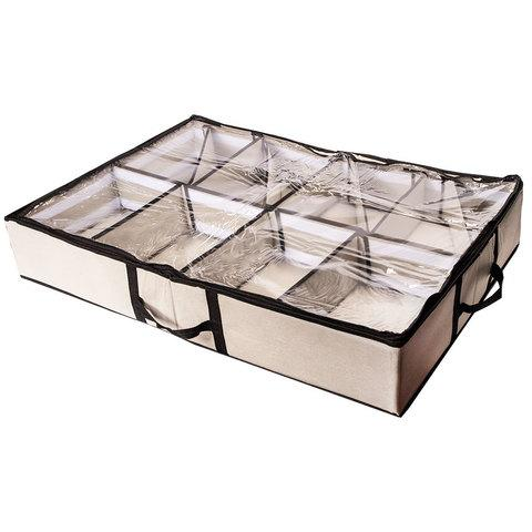 Органайзер-трансформер для 12 пар обуви с прозрачной крышкой