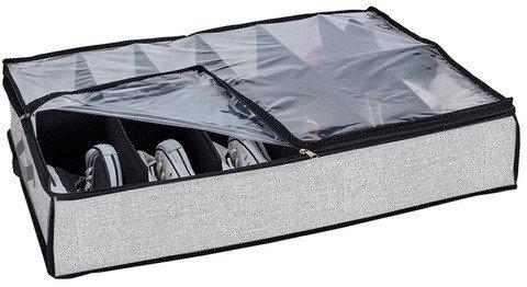 Органайзер-трансформер для 12 пар обуви с прозрачной крышкой, фото 2
