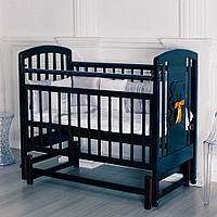 """Кровать детская """"Incanto HUGGE"""" Венге (с мишкой, без ящика, поперечный маятник), фото 1"""