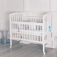 Кровать детская Incanto HUGGE белый колесо качалка