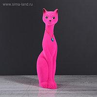 """Копилка """"Кошка Мурка"""", покрытие флок, розовая, 28 см"""