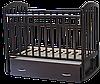 Детская кроватка Антел Алита 4 Венге (маятник, ящик)