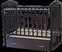 Детская кроватка Антел Алита 4 Венге (маятник, ящик), фото 1