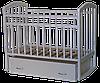 Детская кроватка Антел Алита 4 белый (маятник, ящик)