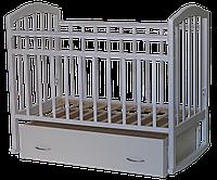 Детская кроватка Антел Алита 4 белый (маятник, ящик), фото 1