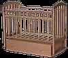 Детская кроватка Антел Алита 4 бук (маятник, ящик)