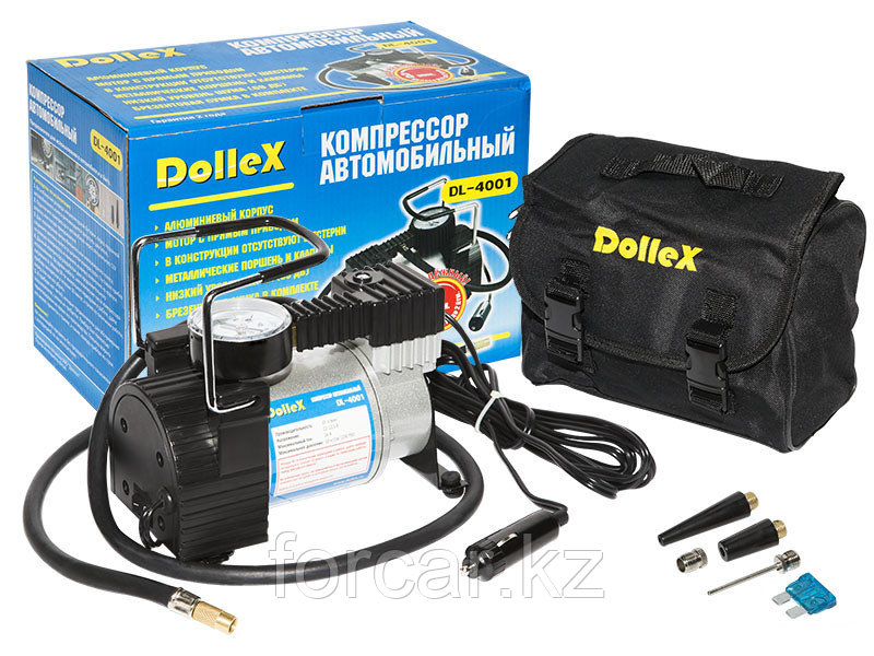 Компрессор Dollex DL-4001, 12V, 35 л./мин, 150 PSI, сумка