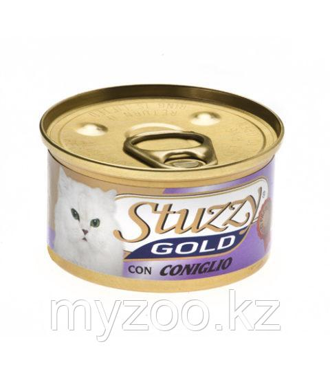 STUZZY GOLD  влажный корм для кошек  Мусс Кролик 85гр