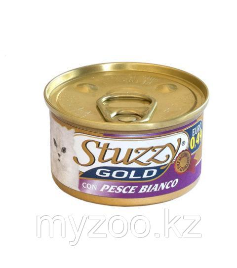 STUZZY GOLD  влажный корм для кошек  Мусс Белая рыба 85гр