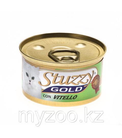 STUZZY GOLD  влажный корм для кошек  Мусс Телятина 85гр